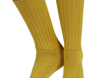 Fremont women's elastic free (soft topped) cotton crew socks in Inca
