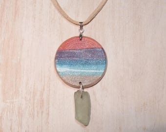Sea Glass Pendant (pt94-3)
