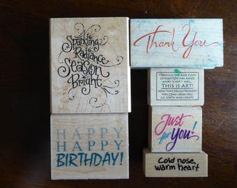 Greetings Stamps - Set of 6 by Various Makers (Used)