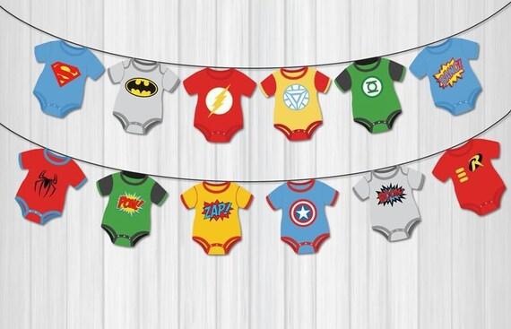 Superhero Baby Shower Banner. Comic Book Theme Bunting Banner. . Superheroes  Baby Shower Decorations, Avengers Banner, Avengers Inspired From ...