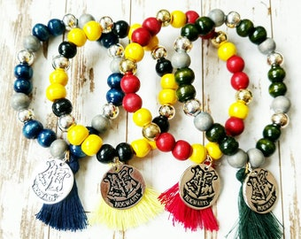 Hogwarts House Beaded Bracelet