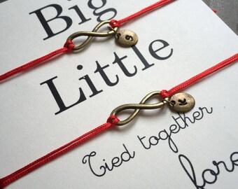 Big little sorority, big little gift, big little bracelet, Friendship Bracelet, Big and little sorority, sorority gifts, Sister gift, BA20