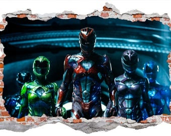 Power Rangers Smashed Wall Sticker, Wall Decals Part 37