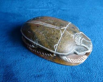 Egyptian scarab Souvenirs/Gift circa 1930 on bottom hieroglyphs