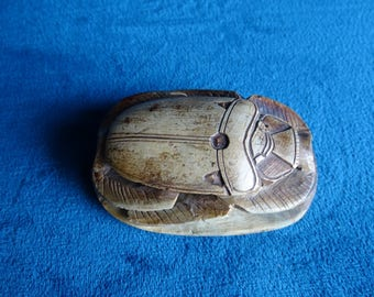 Souvenirs/Gift circa 1930 on bottom hieroglyphs Egyptian restored scarab