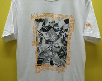 Vintage Stussy Kool Fm collaboration Event T Shirt Rare
