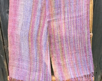 Handwoven hand dyed shawl