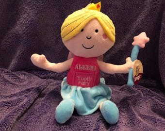 Tooth Fairy Plush Personalized / Gift for Child / Stuffed Toy ***Canada Customers***