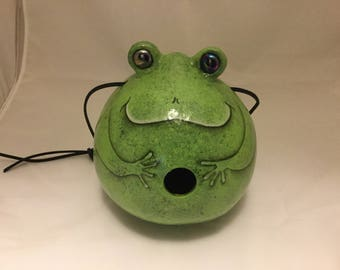 Painted Frog Gourd Birdhouse