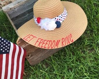 Patriotic floppy hat