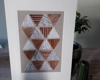 "Collage ""beige triangle"""
