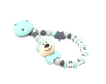 Pacifier pattern MATHIS wooden beads