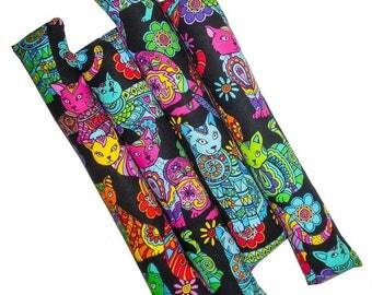 12'' Handmade Organic Catnip Kicker Stick Cat Toy - One Kicker - Coloring Cats