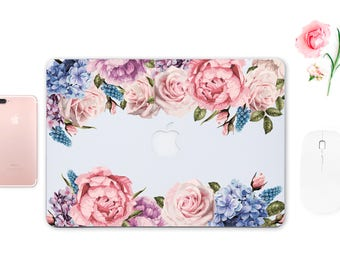 Roses Decal Floral Skin Macbook Pro Skin Keyboard Sticker Macbook Pro Sticker Macbook Air Case 13 inch Macbook 12 inch Skin Macbook ESD017