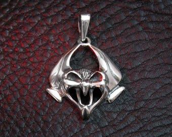 Bat pendant, sterling silver, Gothic jewelry, goth pendant, goth, Gothic pendant, bat jewelry, silver bat, pendant for women, men pendant
