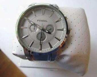 Men's Silver Fossil Watch