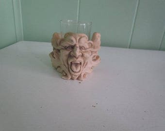 Gargoyle Head Candle Holder