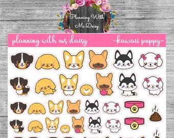 Kawaii Puppy Stickers