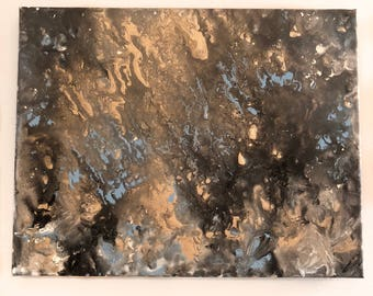 Gold Abstract Acrylic Painting