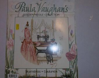 -Seamstress - Paula Vaughan's cross stitch Kit