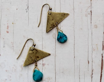 Torquiest & Brass Earrings