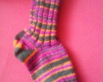 Hand-knitted socks 38/39