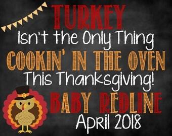 Thanksgiving Pregnancy Announcement, Thanksgiving Baby, Pregnancy Announcement