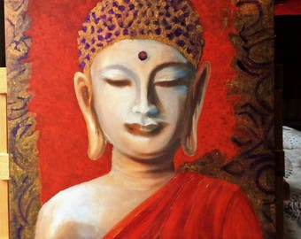 Budda - oil painting