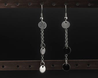 Gypsy elegance stainless steel long earrings
