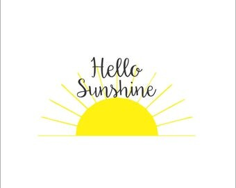 Hello Sunshine Decal, Cute Stickers And Sayings,summer Decals
