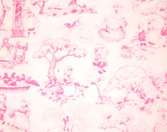 Storybook Toile in pink and white from Brother Sister Design Studios.