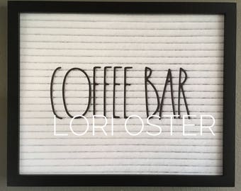 Letterboard Coffee Bar Printable, Rae Dunn Coffee Sign, Skinny Letters Sign, Farmhouse Sign, Farmhouse Coffee, Farmhouse Print, Country Deco