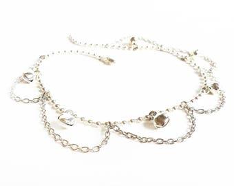 Chain Anklet with Bells - Bell Ankle Bracelet - Beach Jewelry - Foot Jewelry - Summer Jewelry - Summer Anklets -  Bell Anklet