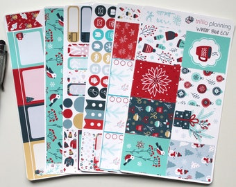 Winter Blue - Erin Condren Vertical Weekly Kit