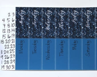 Big Happy Planner Date Covers - Dark Blue