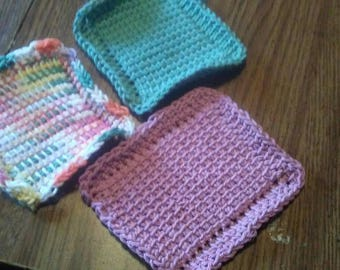Small dish cloths set of 3