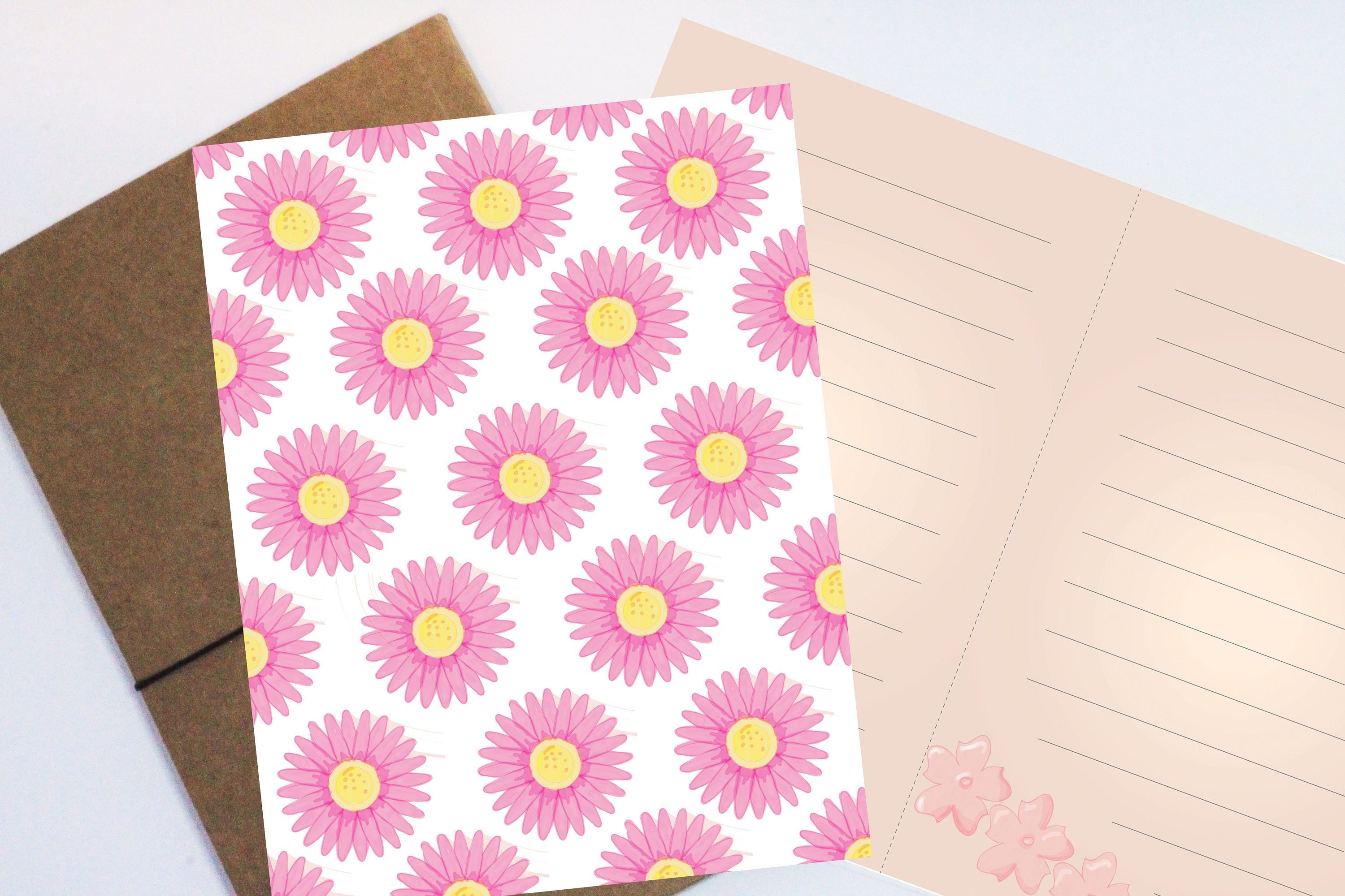 Download Digital Floral Writing Paperwatercolor Flowers And Paper