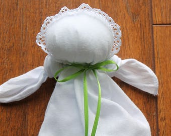 Church-Pew-Plantation-Hanky-Handerchief Doll-Quiet Time Soothing Toy-Baby Shower Gift