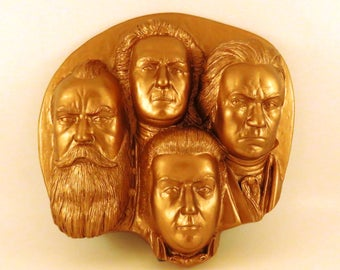 The Four Composers Wall Sculpture