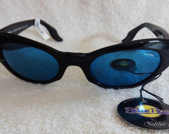 REDUCED Rare NEW Vintage BLUEBAY Blue Bay by Safilo Woman's Cat Eye Sunglasses  New With Tags New Old Stock