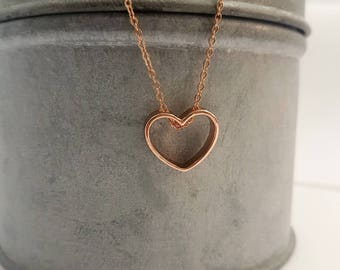 Tiny heart necklace, delicate necklace , bridesmaid gift , valentines gifts, gift for mum