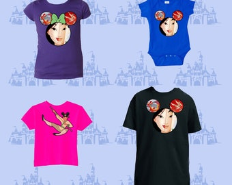 Kids, Mulan, Chinese Dragon, Dragon, Sward, brave, Disney Shirts, Mickey Ears, You pick the size & color, customize, babies, boys, girls