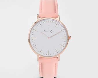 Womens Leather Watch, Ladies Watch, Girls Watch, Brown Leather Watch, Leather Watch, Christmas Gift, Birthday Gift, Minimalist,