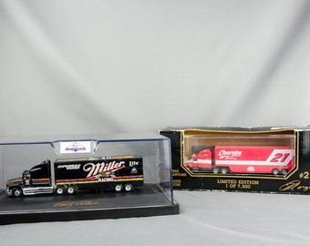 Nascar Transport Truck Lot - Rusty Wallace Miller Lite + Cherrywine Diecast Car
