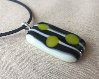 Handmade Fused Glass Pendant Necklace