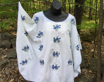 Vintage embroidered tablecloth top, AL