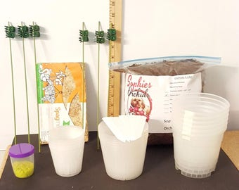 Orchid Re-potting Kit W/round Pots By Sophie's Orchids 423105