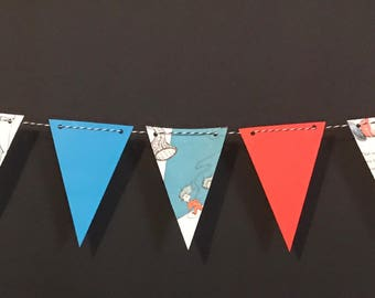 Cat in the Hat Bunting - Birthday Party Decorations