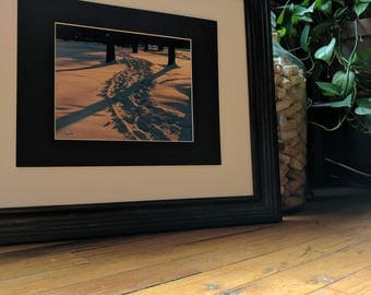 Tree Shadows in Snow Photograph, Nature Photography, 8x10 (does not include frame)