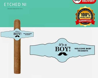 Personalised Cigar Bands - It's a boy - (16 qty)
